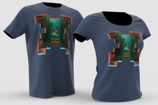 shirt ocean ruins previz