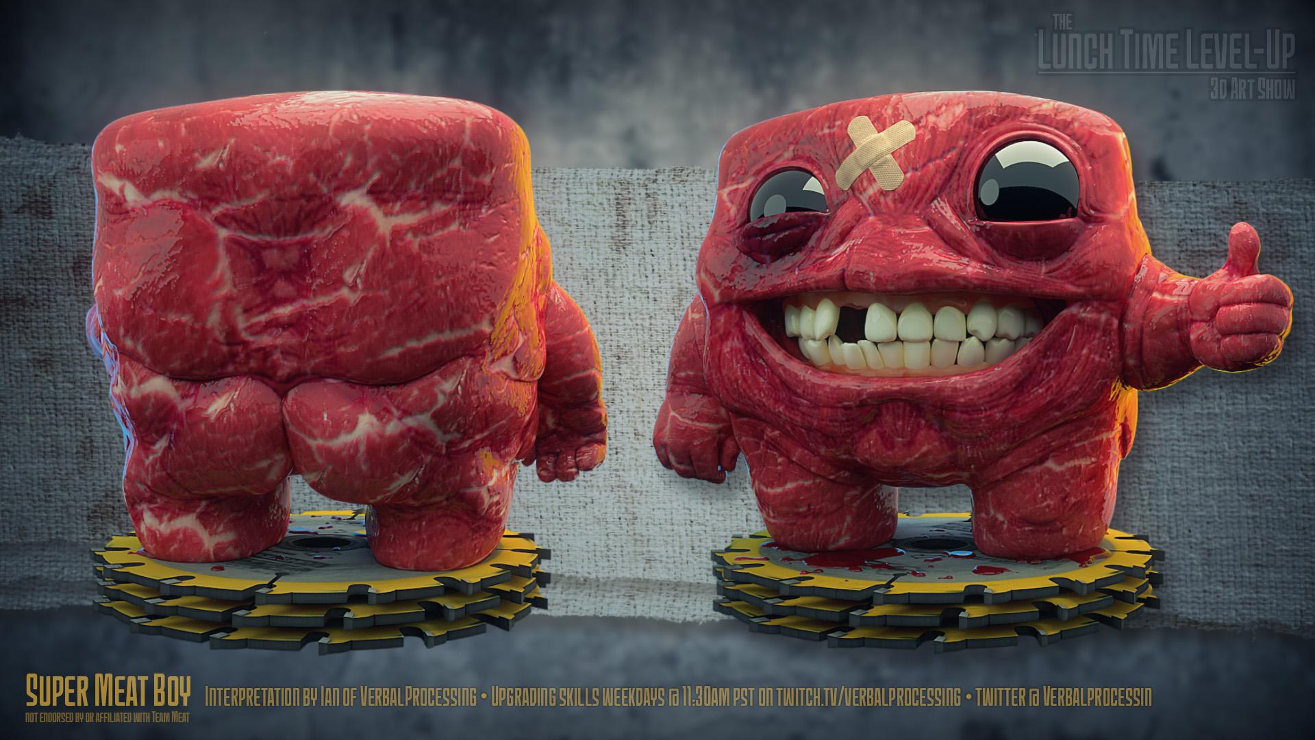 Super Meat Boy Sculpture The Art Of Ian Strandberg